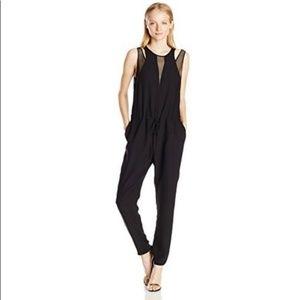 NWOT Rebecca Taylor black split strap jumpsuit!